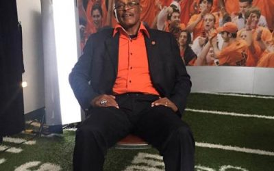 """Filming with """"The Franchise"""",Floyd Little, in Syracuse"""