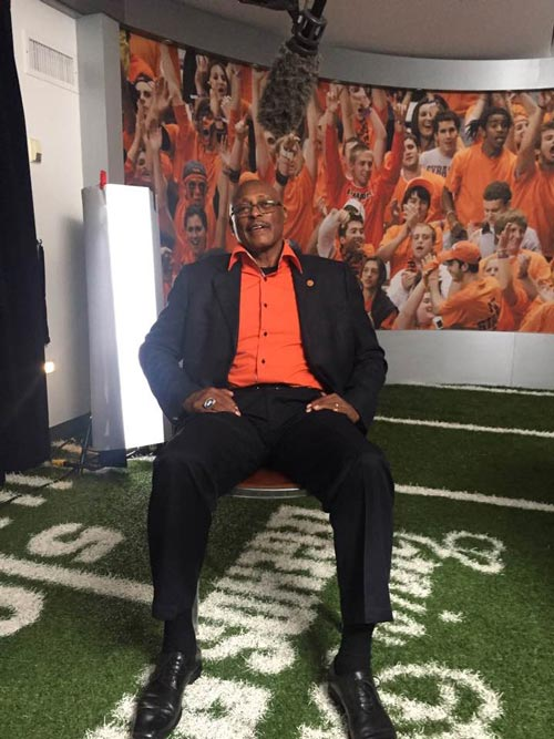 "Filming with ""The Franchise"",Floyd Little, in Syracuse"