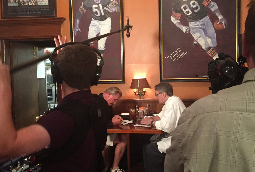 "Filming ""Da Coach"" Mike Ditka in Chicago"